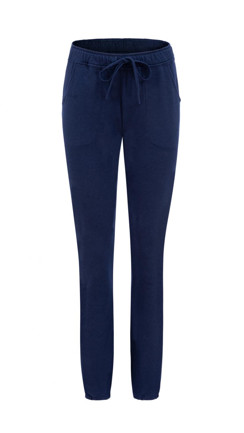 Spodnie Taylor | Głęboki Granat | Wygodne spodnie z dzianiny