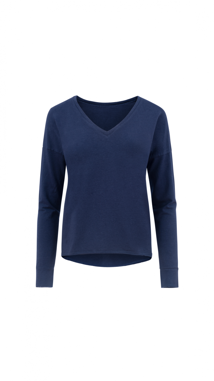 Bluza Stephanie | Głęboki Granat | Wygodna bluza z dzianiny
