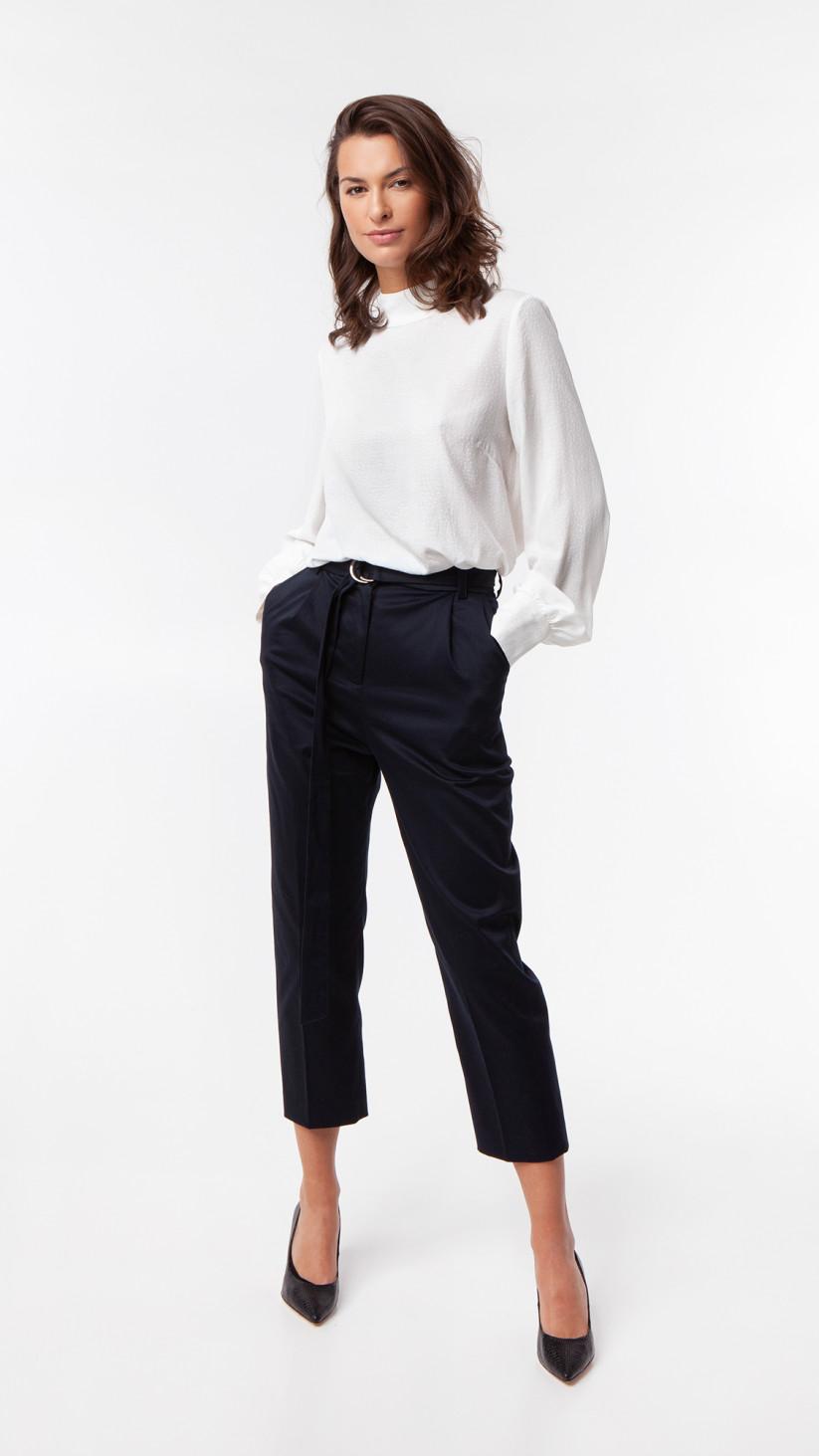 Bluzka Kelly | Off White | Bluzka z bufiastym rękawem
